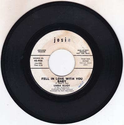 Image for Fell In Love With You Baby/ A Little Girl Grew Up Last Nig