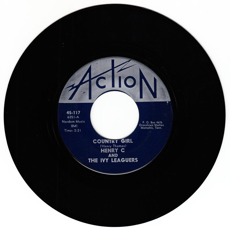 Henry C and the Ivy Leaguers - Country Girl / I Can't Do Without Her - Action 117