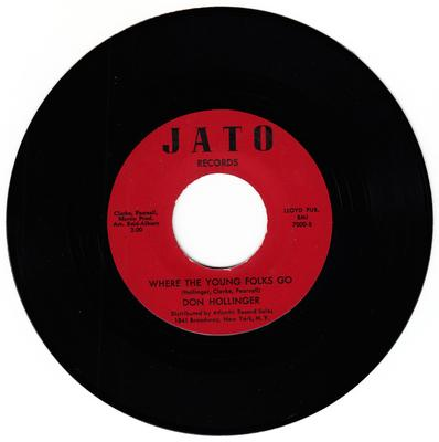 Don Holliger - Where The Young Folks Go / I Had A Nightmare - JATO 7000