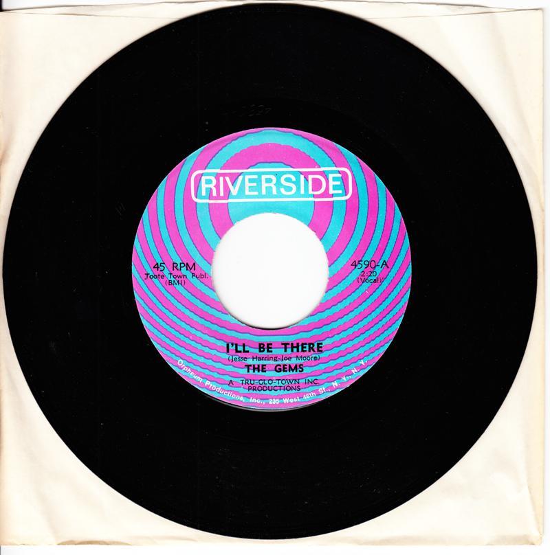 Gems - I'll Be There / I Miss Him - Riverside 4590