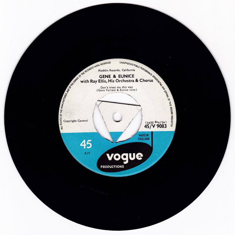 Gene & Eunice - Don't Treat Me This Way / Doddle Doodle Doo - Vogue V 9083