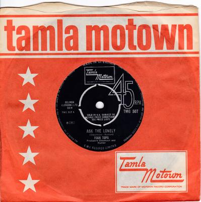 Four Tops - Ask The Lonely / Where Did You Go - Tamla Motown TMG 507