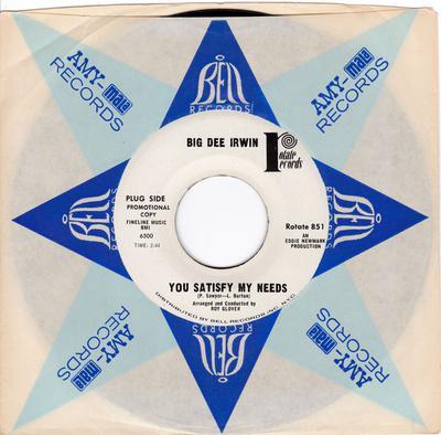 Big Dee Irwin - You Satisfy My Needs - Rotate PROMO