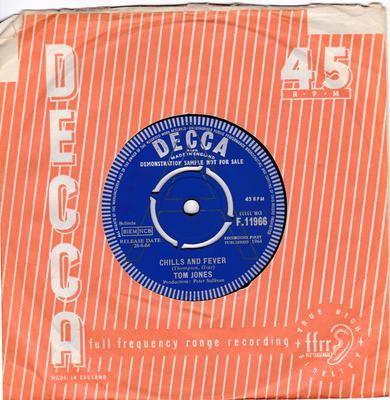 Tom Jones - Chills And Fever - UK Decca DEMO