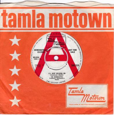 Marvelettes - I'll Keep Holding On / No Time For Tears - Tamla Motown TMG 518 DJ