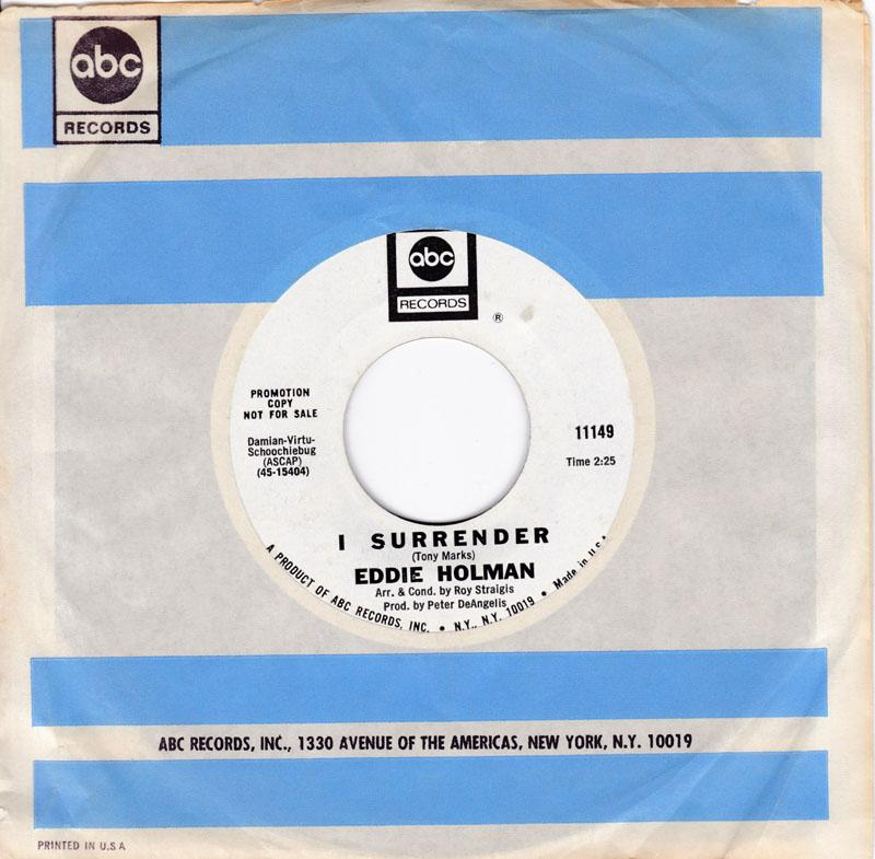 Eddie Holman - I Surrender - ABC Promo