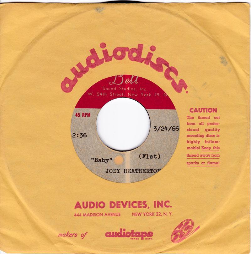 Joey Heatherton - 3 title 2 x acetates - Bell Sound