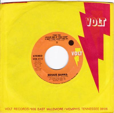 Bessie Banks - Try To Leave Me If You Can ( I Bet You Can't Do It ) / Ain't No Easy Way - Stax VON 4112