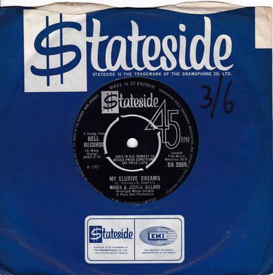 Moses & Joshua Dillard - My Elusive Dreams / What's Better Than Love  - Stateside SS 2059