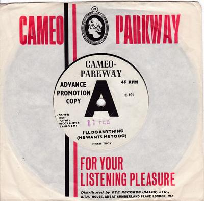 Doris Troy - I'll Do Anything (He Wants Me To Do) / But I Love Him - Cameo Parkway DEMO
