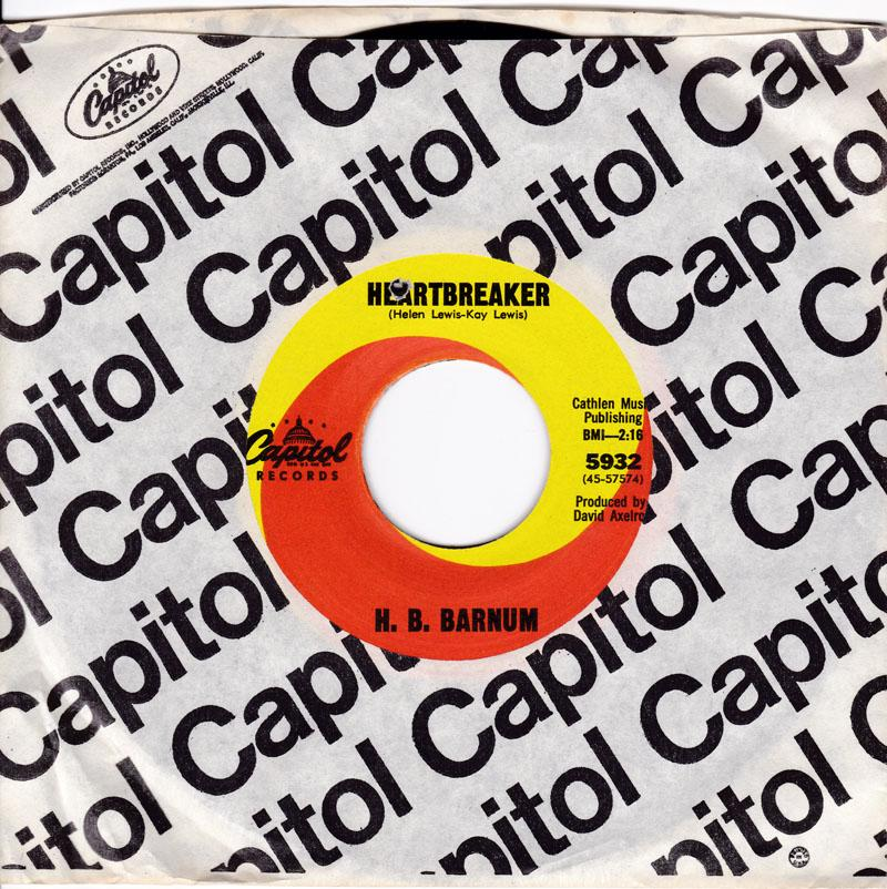 H. B. Barnum - Heartbreaker / Sesarching For My Soul - Capitol 5932
