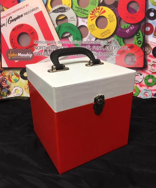 50 Count Red & White Vinyl Finish/ 50 Count Replica Record Box