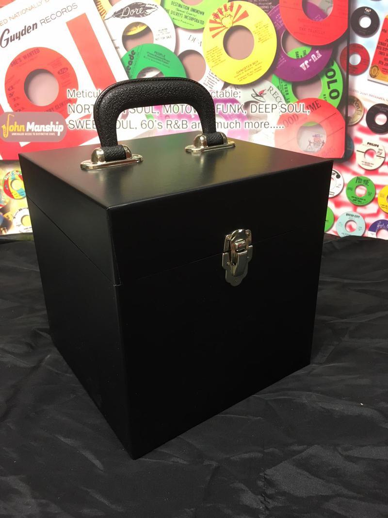 50 Count Matt Black Vinyl Finish/ 50 Count Replica Record Box