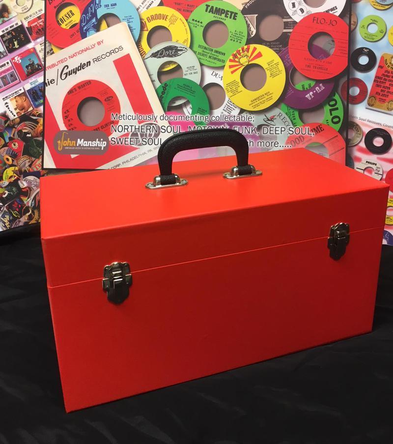 Double Lane Red Vinyl Finish/ New Replica 2 Lane Record Case