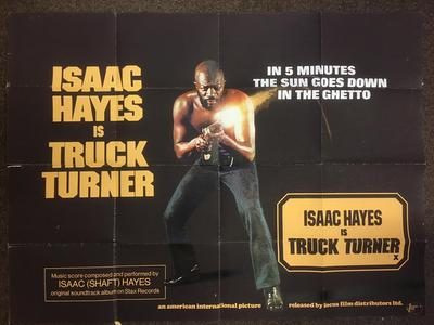 "Isaac Hayes - Truck Turner Film poster / 40"" wide by 29.5"" high - Focus Films 1974"