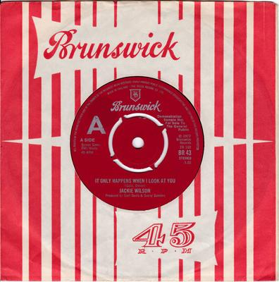 Jackie Wilson - It Only Happens When I Look At You - UK Brunswick BR 43 Demo