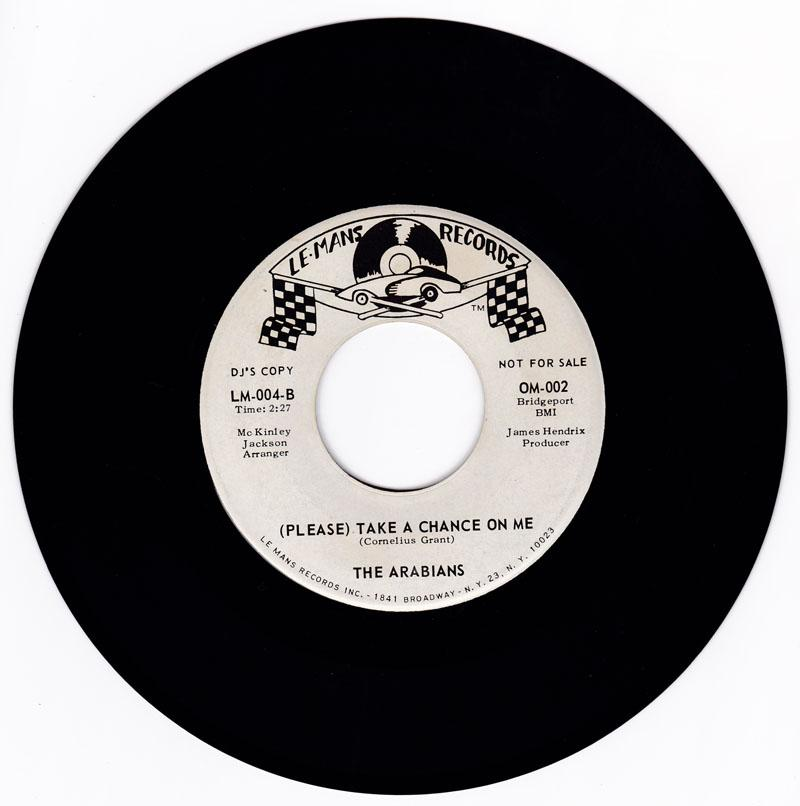 Arabians - ( Please ) Take A Chance On Me / You Upset Me Baby - Le  Mans OM 002 DJ