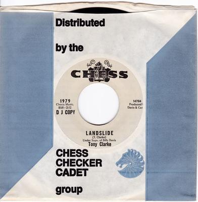 Tony Clarke - Landslide / You Made Me A V.I.P. ( Very Important Person ) - Chess 1979 DJ