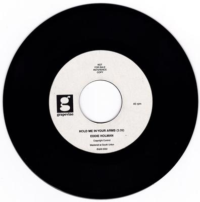Eddie Holman - Hold Me In Your Arms / Diggin' It - Grapevine acetate