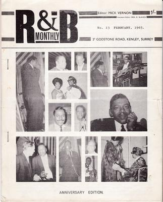 R&B MONTHLY - No. 13 February 1965 Anniversary Edition - no label