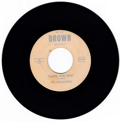 Sensations - Thank You Baby / Jam N' Soul - Brown 001