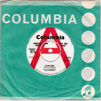 Dr. Feelgood & The Interns - Blang Dong / The Doctor's Boogie - Columbia DB 7228 DJ