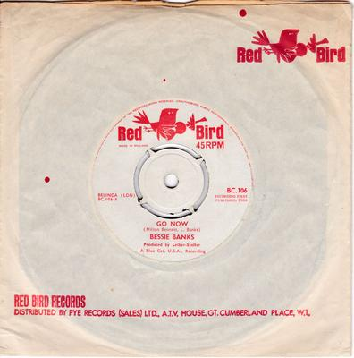 Bessie Banks - Go Now / It Sounds Like My Baby - Red Bird BC 106