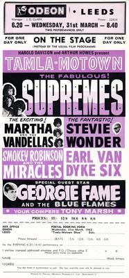 Odeon Leeds Tamla Motown On Stage - Wednesday 31st. March 1965 - Odeon Leeds