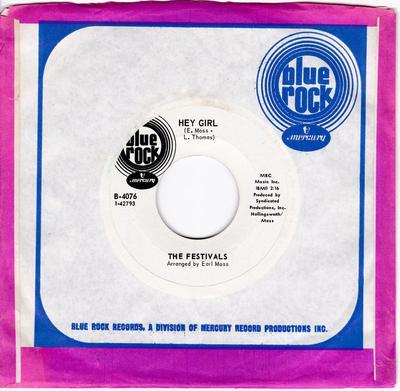 Festivals - Hey Girl / Checkin' Out - Blue Rock B-4076 DJ