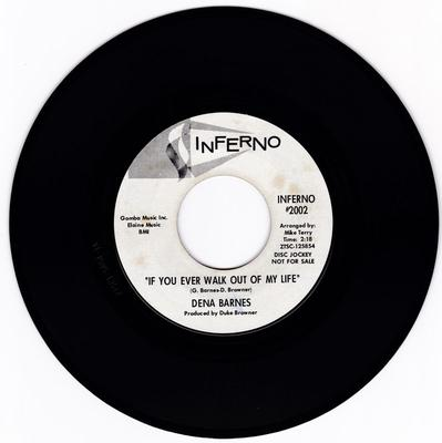 Dena Barnes - If You Ever Walk Out Of My Life / Who Am I  ( You Ought To Know ) - Inferno 2002 DJ