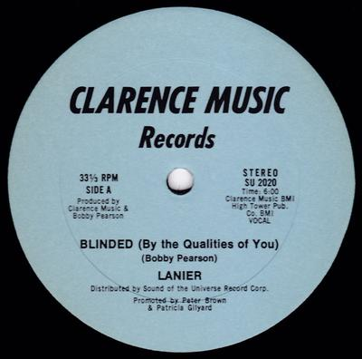 Lanier - Blinded ( By The Qualities Of You) / 25 Hours - Clarence Music SU 2020