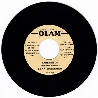 Lynn Sherman & Brandy - Farewells / All Alone Again - Olam 6024