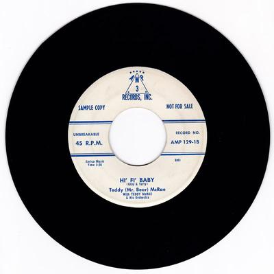 Teddy ( Mr. Bear ) McRae - Hi' Fi' Baby / Hold Out Baby - Amp 3 Record Inc. AMP 129