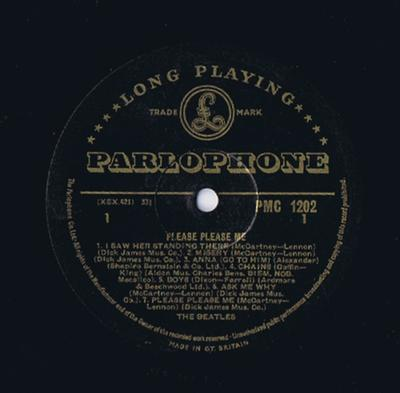 Beatles - Please Please Me / GOLD Text mono 1st press - Parlophone PMC 1212