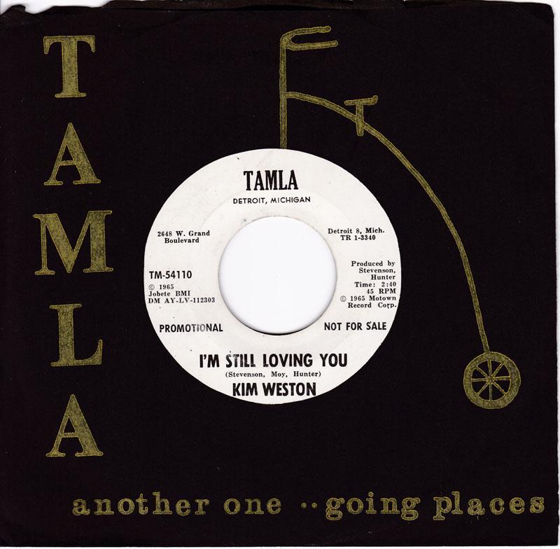 Kim Weston - I'm Still Loving You / Go Ahead And Laugh  - Tamla TM 54110 DJ