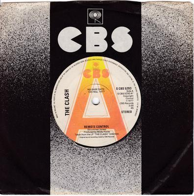 Clash - Remote Control / London's Burning - CBS 5293 DJ