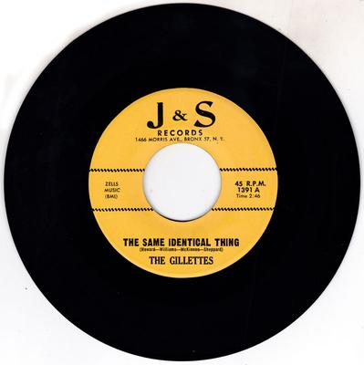 Gillettes - Same Identical Thing / 24 Hours A Day - J&S 1391