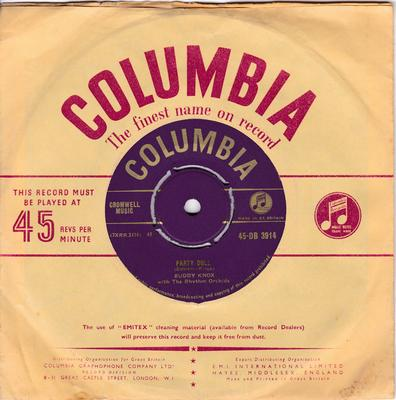 Buddy Knox - Party Doll / My Baby's Gone - Columbia DB 3914 gold
