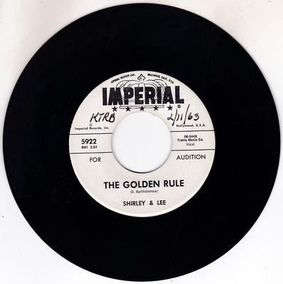 Image for The Golden Rule/ Hey Little Boy