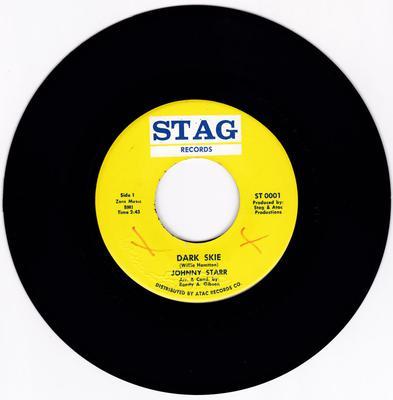 Johnny Starr - Dark Skie / same: instrumetal - Stag ST 0001