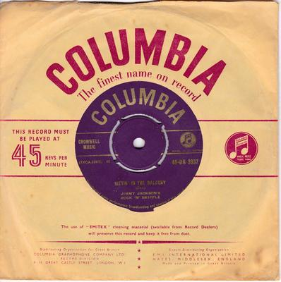 Jimmy Jackson's Rock N' Skiffle - Sittin' In The Balcony / Good Morning Blues - Columbia 45-DB 3937