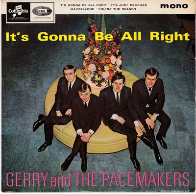 Gerry and the Pacemakers - It's Gonna Be Alright / 1964 4 track EP with cover - Columbia SEG 8367 EP PS