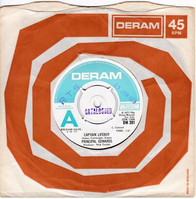 Principal Edwards - Captain Lifeboy / Nothing - Deram DM 391 DJ
