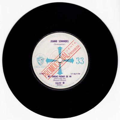 Joanie Sommers - Don't Pity Me / My Block - Argentinan Warner Bros 1740 DJ