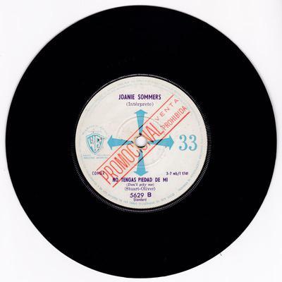 Joanie Sommers - Don't Pity Me / My Block - Argentinan Warner Bros 1740 DJ