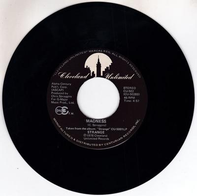 Strange - Madness / If You're So In Love - Cleveland Unlimited CU 502