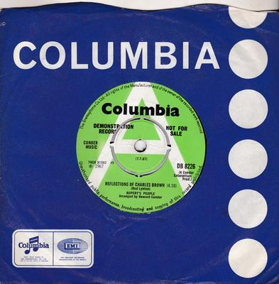 Rupert's People - Reflections Of Charles Brown / Hold On - Columbia DB 8226 DJ