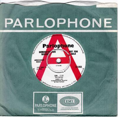 Derek Lee - Girl / You've Done Somthing To My Heart - Parlophone R 5468 DJ