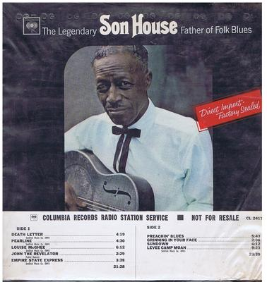 Son House - The Legendary Father Of Folk Blues / 1965 USA promo - Columbia CL 2417 DJ