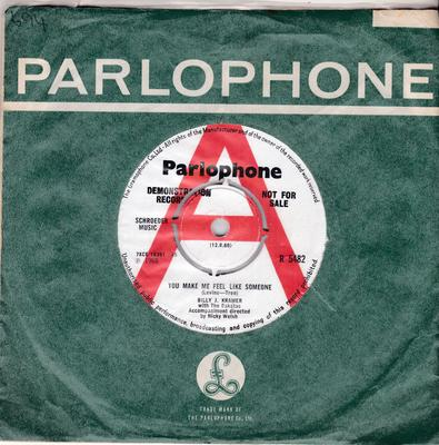 Billy J. Kramer and the Dakotas - You Make Me Feel Like Someone / Take My Hand - Parlophone R 5482 DJ